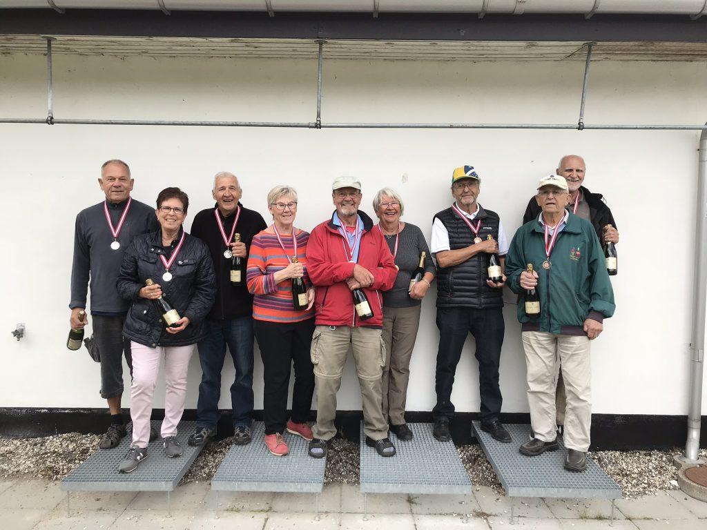 Guld: Birgit S., Lisbeth & Freddy Sølv: Kirsten, Jørn & Carl-Erik Bronze: Keld, Kjeld & Vagn